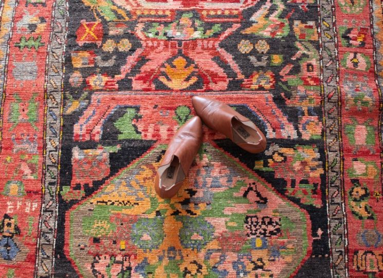 Grand tapis vintage de type caucasien, 753,94 € sur la boutique Etsy MelekCarpetOnline