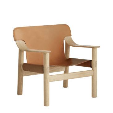 Fauteuil en cuir, Bernard, design : Shane Schneck - Hay