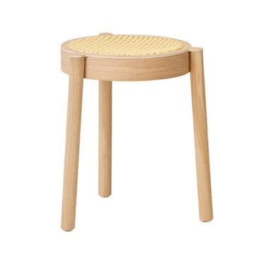 Tabouret en bois et cannage Pal, design : Sami Kallio pour Northen