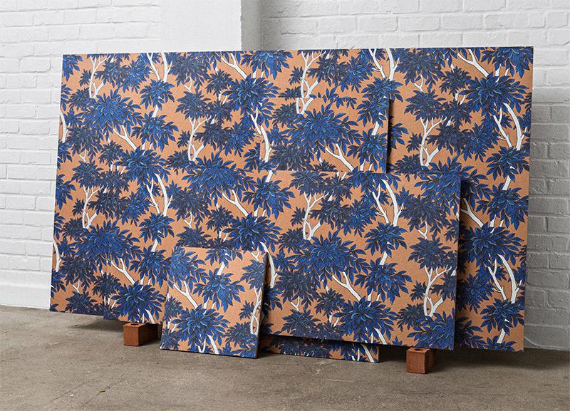 Tenue de Ville - Collection de papier-peint SPICE - Modèle PANACHE tangerine