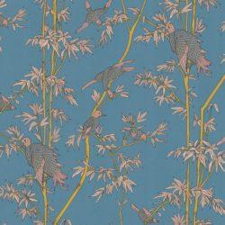 Tenue de Ville - Collection de papier-peint Spice - Modèle YLANG YLANG turquoise bleu