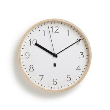 Horloge murale ou à poser en bois - Umbra