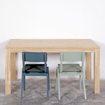 Table rectangulaire en chêne massif naturel, Largo - Woood