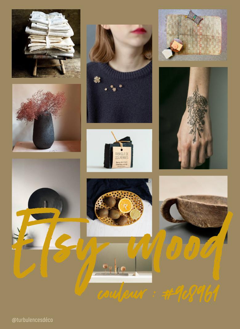 Etsy Mood : couleur #9c8961 // Une sélection de produits déco et lifestyle, trouvés sur Etsy @turbulencesdeco