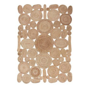 Tapis multi cercles en jute, Sarakala - 119 € sur Ampm