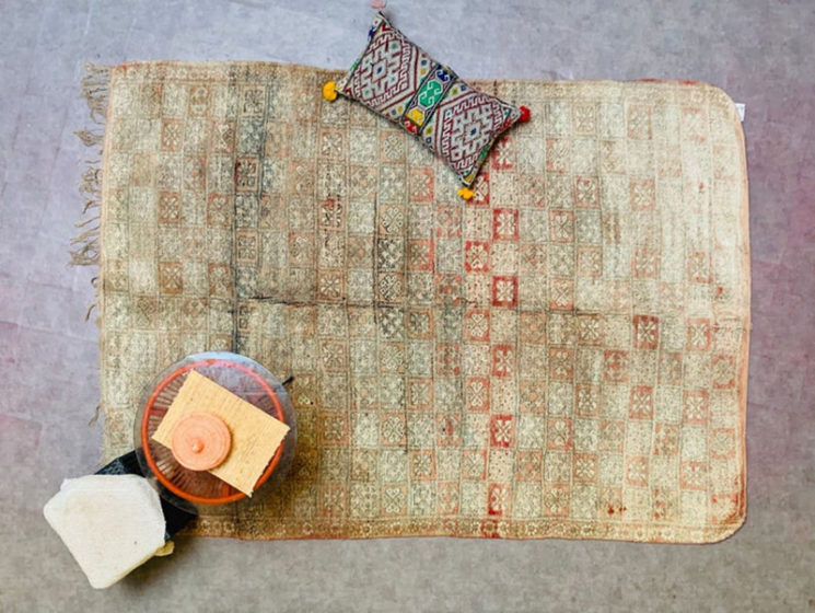 Tapis vintage marocain Boujad sur la boutique Etsy Berber Artisanat Fine, 862,86 €