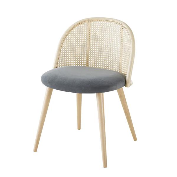 Chaise en cannage et bouleau massif, Mauricette - Maisons du Monde