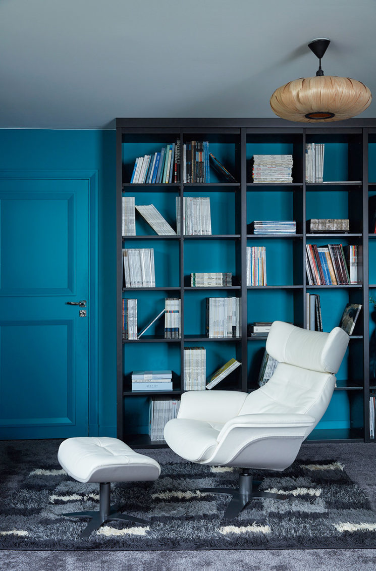 My New Design - Fauteuil relax en bicolore Cuir Blanc et Gris, SIRIUS