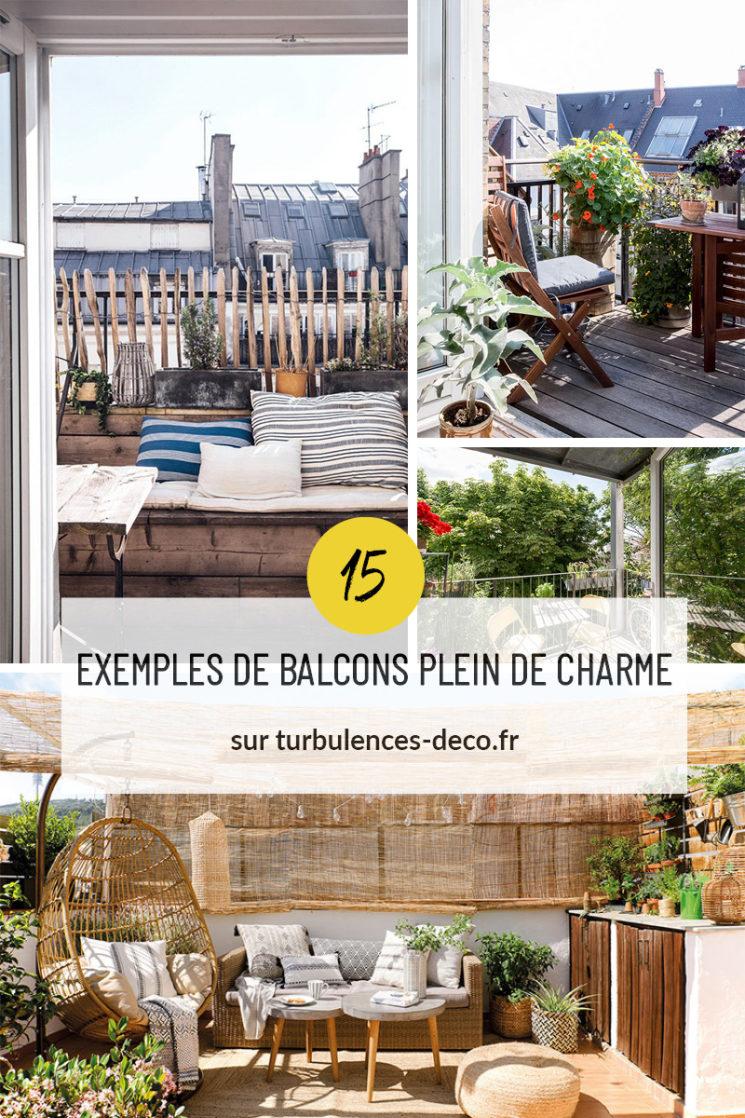 15 exemples de balcons plein de charme à retrouver sur Turbulences Déco