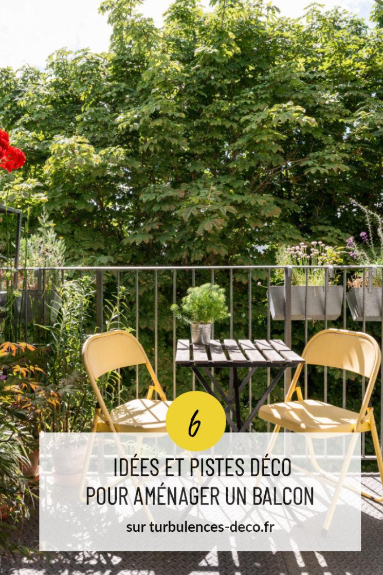 6 Idées et pistes déco pour aménager un balcon plein de charme à retrouver sur Turbulences Déco