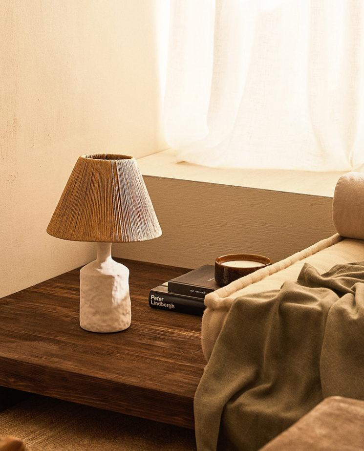 Catalogue Zara Home SS2020,// LAMPE EN CÉRAMIQUE ET ABAT-JOUR PAPIER