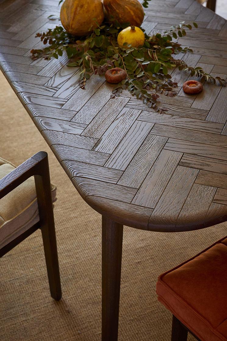 Bleu Nature collection // Table basse MAHKAH en chêne naturel ou foncé