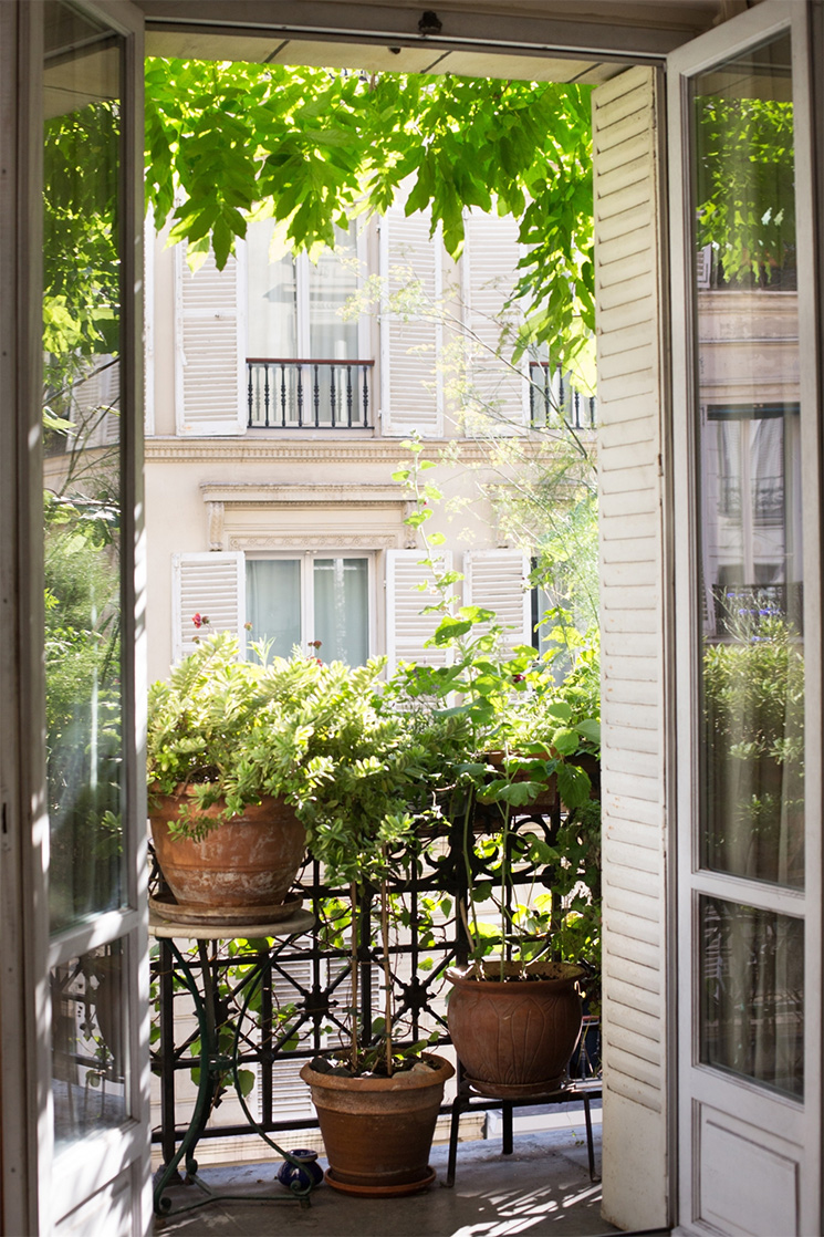Végétaliser son balcon à outrance, comme un jardin extérieur comme cet appartement parisien