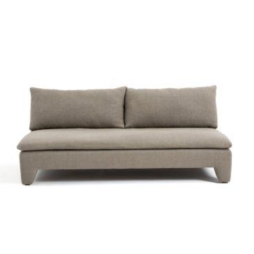 Canapé en lin taupe, Dara sur Ampm