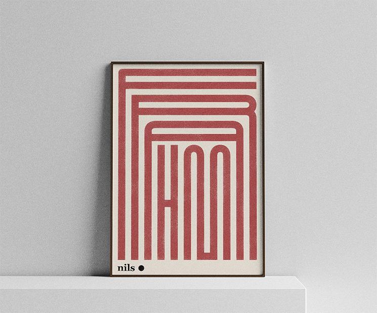Affiche musicale, Nils Frahm sur la boutique Etsy Jakub Kaminski, 25 €