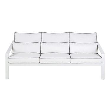Canapé de jardin en aluminium et coussins blancs, Hotel - Maisons du Monde