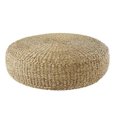 Pouf en coton et fibre végétale tressée, Keyah sur Maisons du Monde
