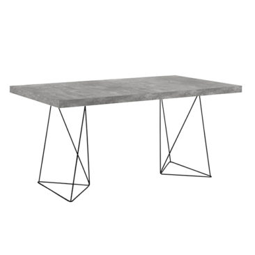 Table rectangulaire, effet béton, Trestle sur Pop Up Home