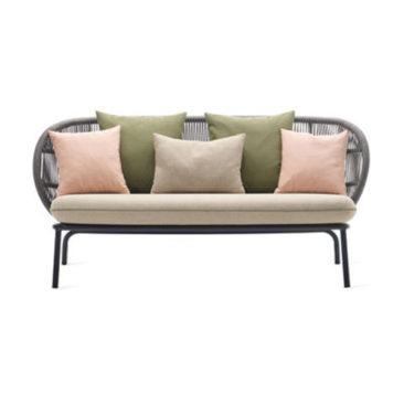 Canapé en corde acrylique tressée main, design : Studio Segers pour Vincent Sheppard