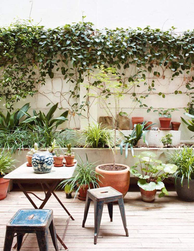 Vivre dedans/dehors || Une cour intérieure à Barcelone