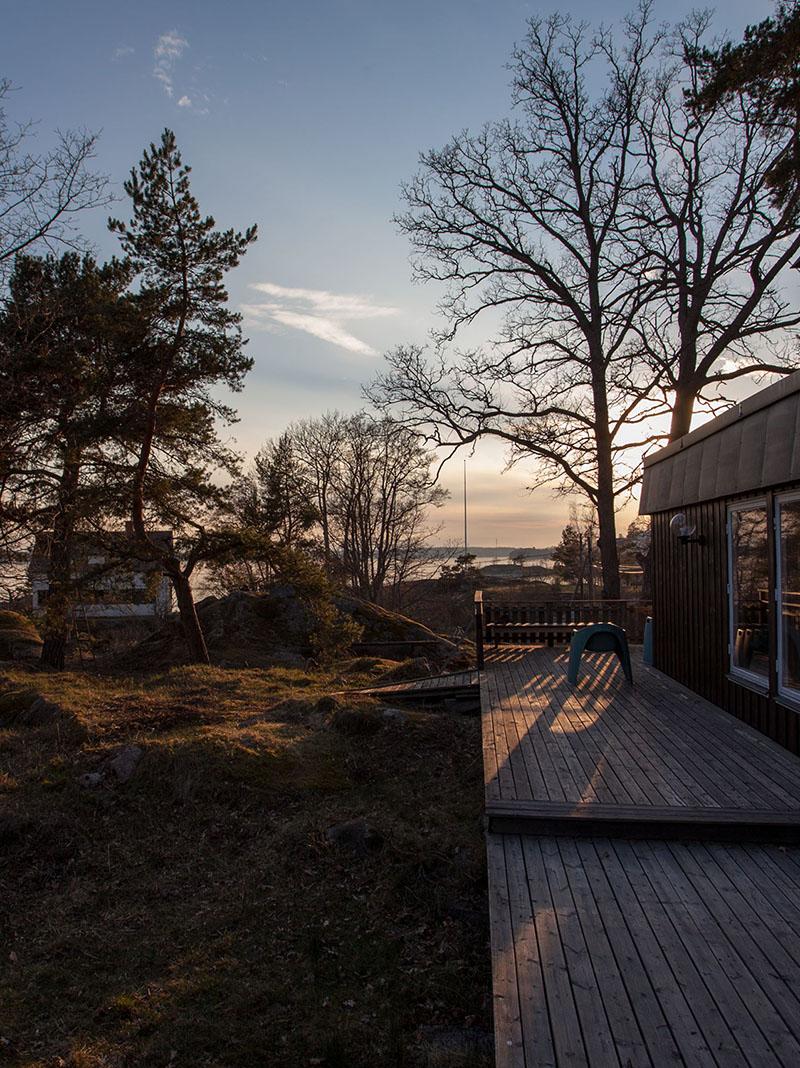 Maison de bord de mer au design suranné en Suède