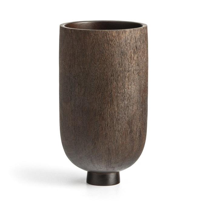Vase en bois décoratif, Sato - Ampm