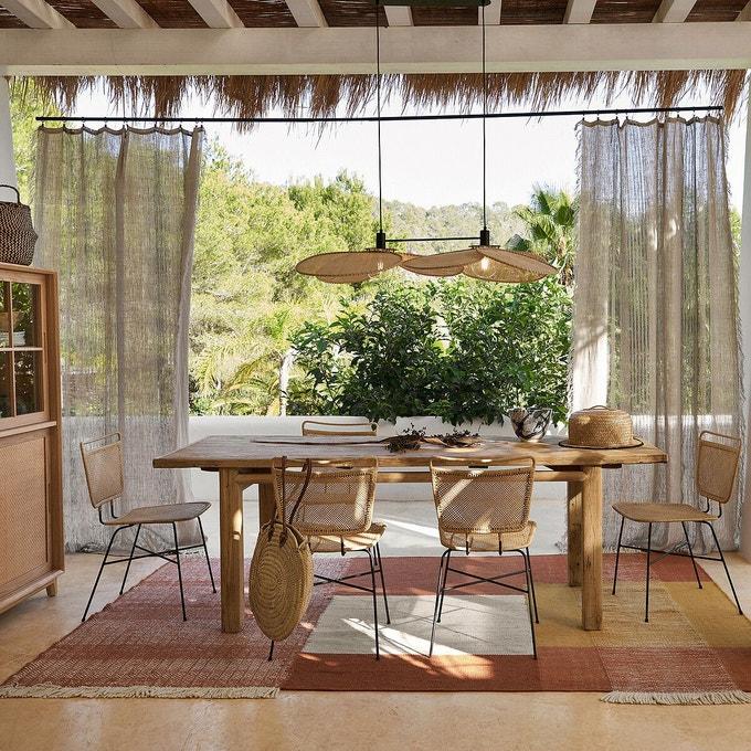 Table en orme massif recyclé, Sumiko - Ampm