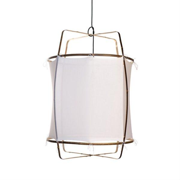 Suspension en bambou et oton, Collection : Z1, design : Ay Lin Heinen et Nelson Sepulveda pour Ay Illuminate