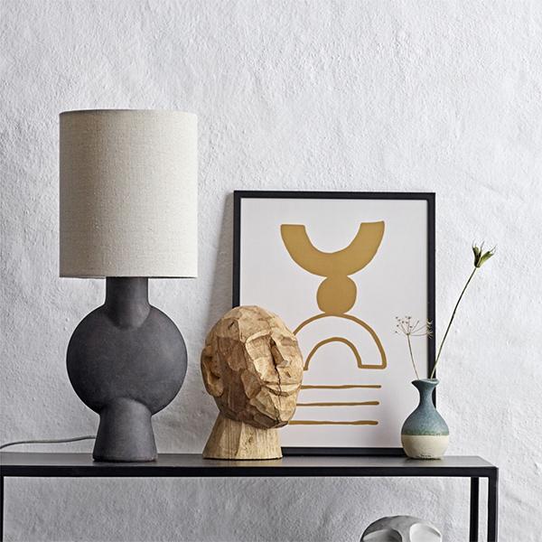 Lampe à poser en céramique noire - Bloomingville