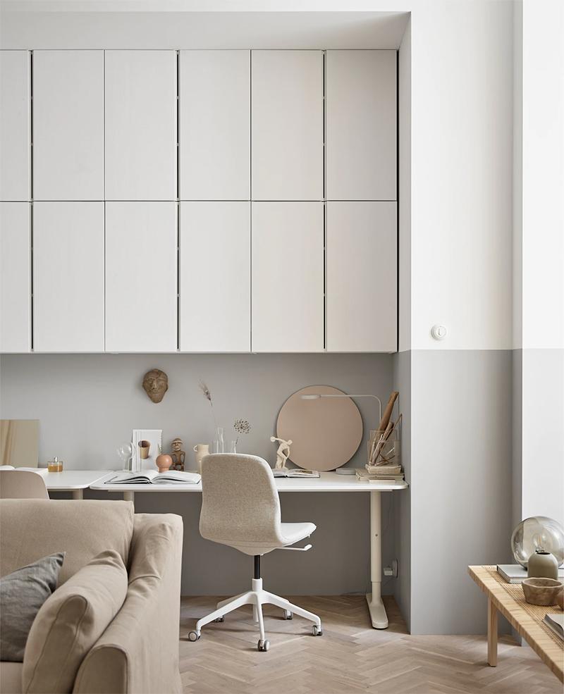 Un bureau agencé avec des produits Ikea, par la styliste Susanne Swegen