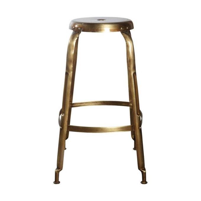 Tabouret de bar style rétro en métal doré, Define - House Doctor
