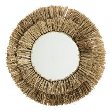 Miroir avec cadre en paille naturel - Madam Stoltz