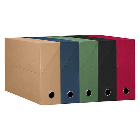 Boîte de classement carton papier grain toile dos 9 cm, ultra résistante et une jolie gamme de couleurs. A retrouver sur Maxiburo