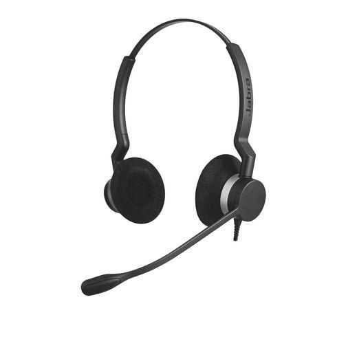 Casque JABRA Biz 2300 2 écouteurs, un confort optimal toute la journée. A retrouver sur Maxiburo
