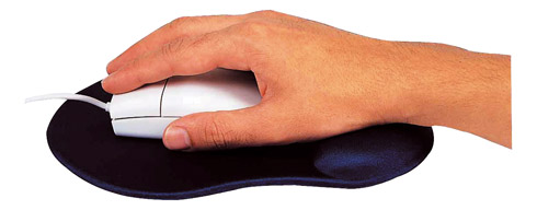 Tapis souris avec repose poignet gel Ergo Design, idéal pour une utilisation intensive. A retrouver sur Maxiburo