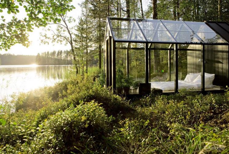 Aménager une serre comme pièce en plus au jardin // Conception : avan.to pour Jardin de Kekkilä - Une serre transformée en chambre