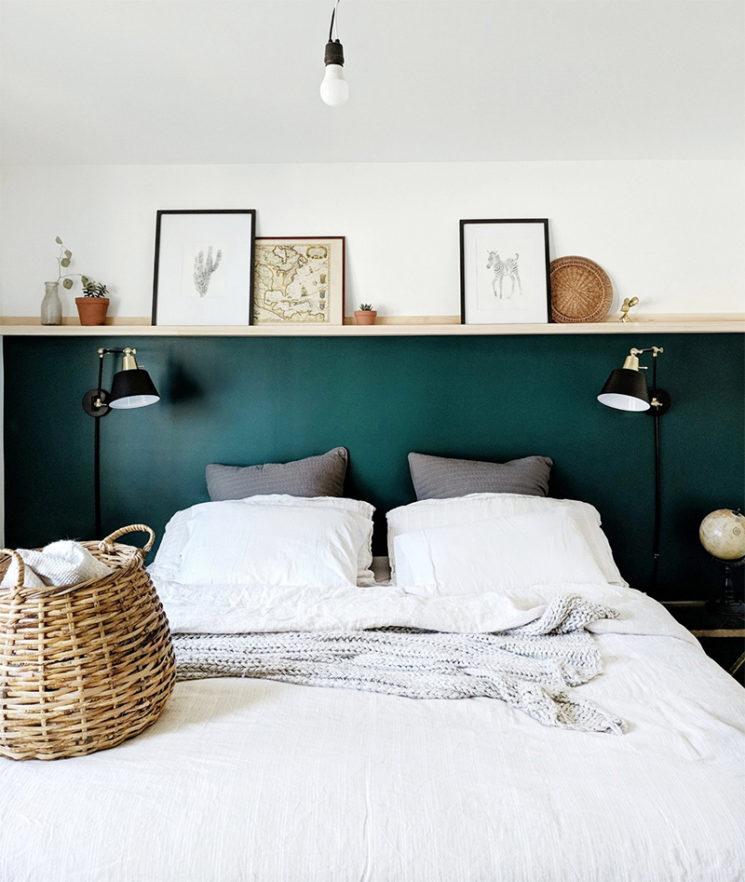 10 idées déco pour une chambre à coucher stylée // Se créer un muret ou poser une tablette