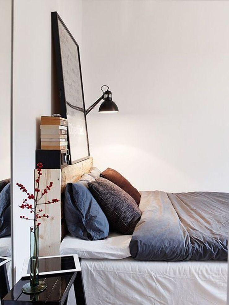 10 idées déco pour une chambre à coucher stylée // Se créer un muret ou poser une tablette comme ici avec de simples planches de pin