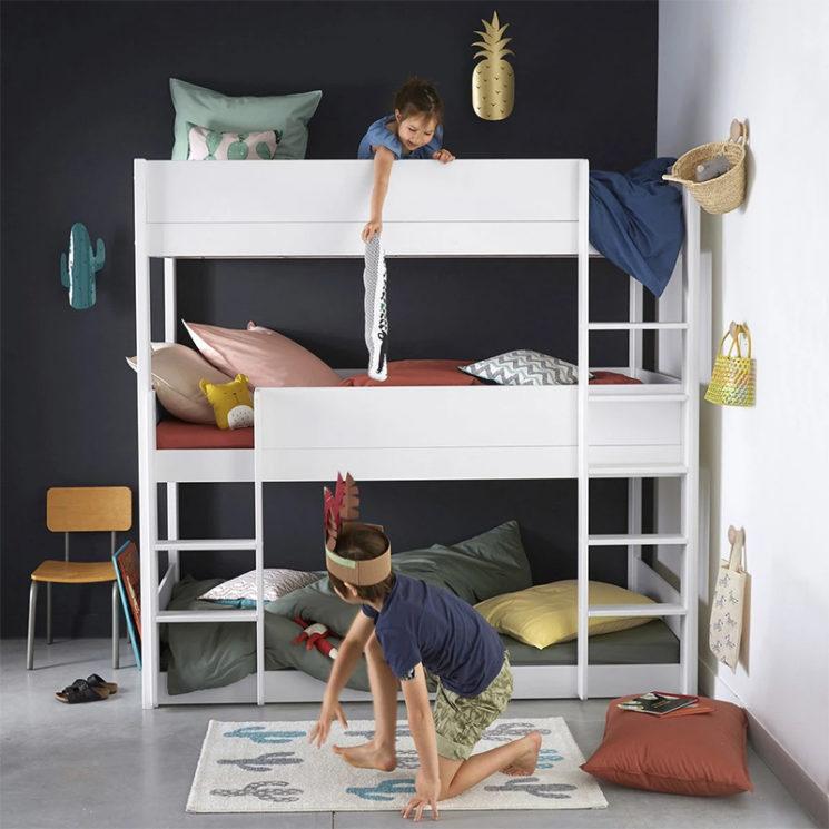 Une chambre d'enfant évolutive canon // Lits superposés 3 couchages, MEETING sur La Redoute Intérieurs