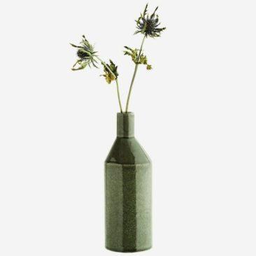 Vase bouteille en grès vert - Madam Stoltz