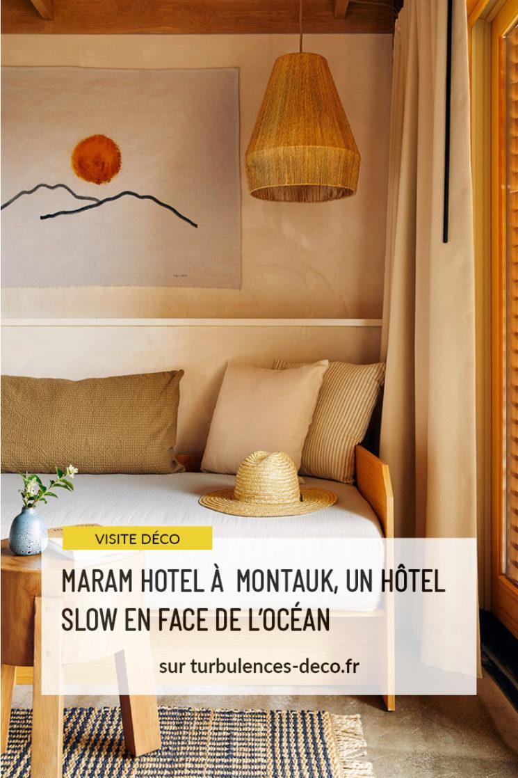 Maram hotel à Montauk, un hôtel slow en face de l'océan par le studio Tack à retrouver sur Turbulences Déco