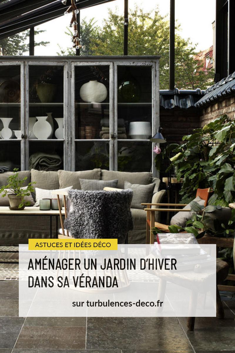 Des idées et des pistes déco pour aménager un jardin d'hiver dans sa véranda à retrouver sur Turbulences Déco