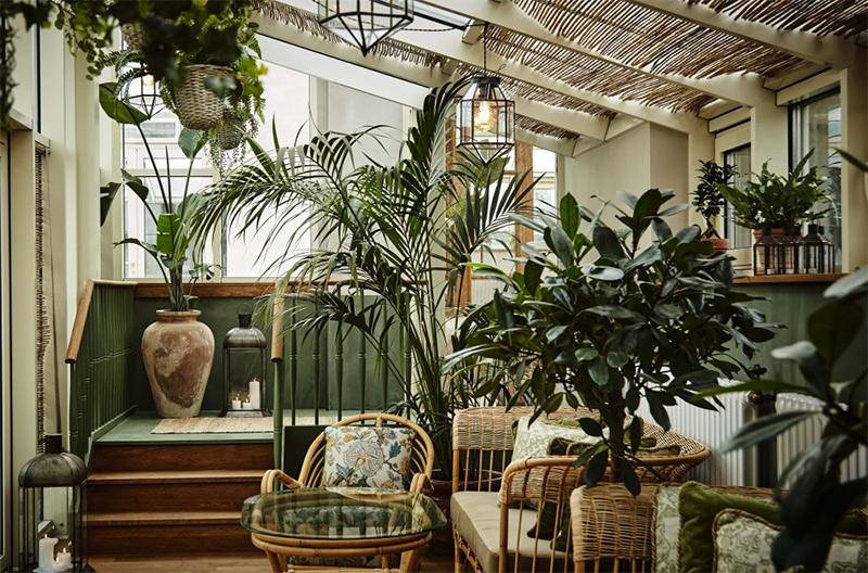 Aménager un jardin d'hiver dans sa véranda // Hôtel Sanders à Copenhague façon Belle Époque