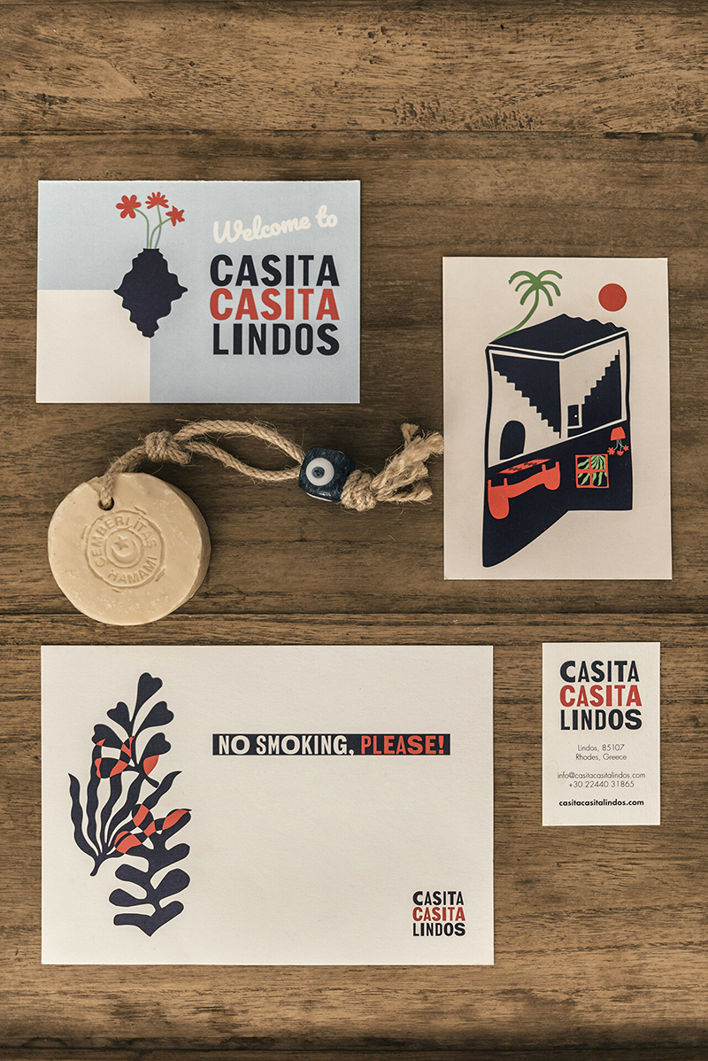 L'Hôtel Casita Casita à Lindos, une ambiance bohème