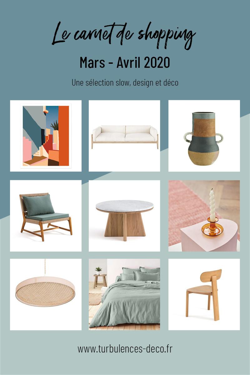 [ Le carnet de shopping de Mai Juin 2020 ] Une sélection slow, design et déco à retrouver sur Turbulences Déco