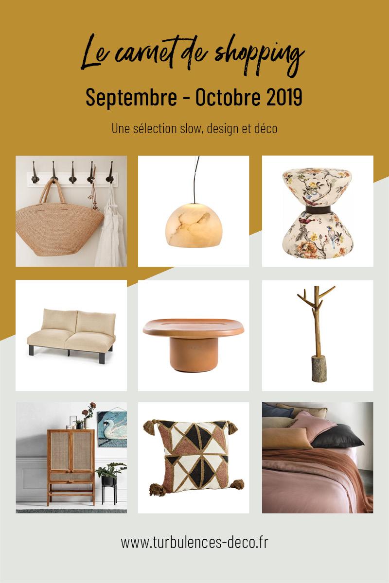 [ Le carnet de shopping de Septembre Octobre 2020 ] Une sélection slow, design et déco à retrouver sur Turbulences Déco