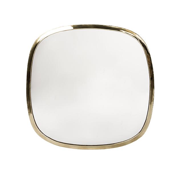 Miroir Carré en laiton - Cosydar