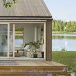 Maisons cabanes, maisons d'été en préfabriqué suédoises