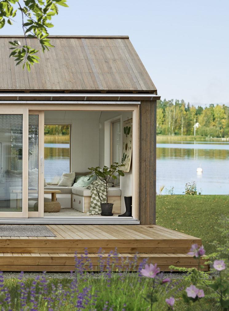 Maisons cabanes, maisons d'été en préfabriqué par la société suédoise Sommernöjen