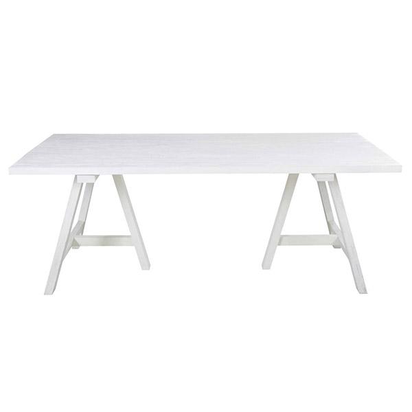 Table à manger en chêne massif blanc, Savina sur Maisons du Monde
